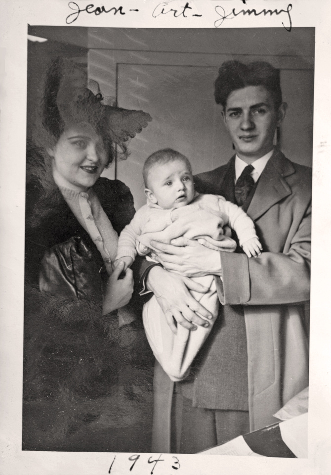 1943 - Mary Eugenia, James Arthur & Arthur