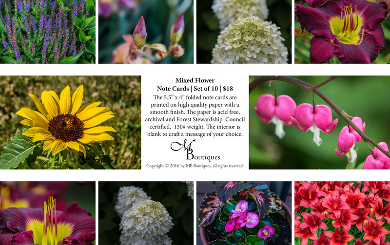 Mixed Flower Note Cards | Set of 10 | $18