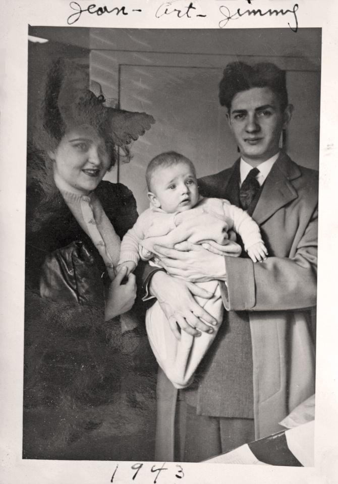 1943 - Mary Eugenia, James Arthur & Arthur