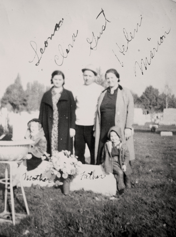 Bukowski Family Members at their Parent's Gravesite