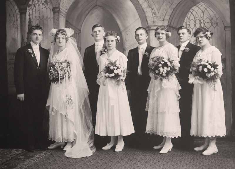 Helen Tillie Bukowski & Anthony Harry Murosky Jr. Wedding Photo