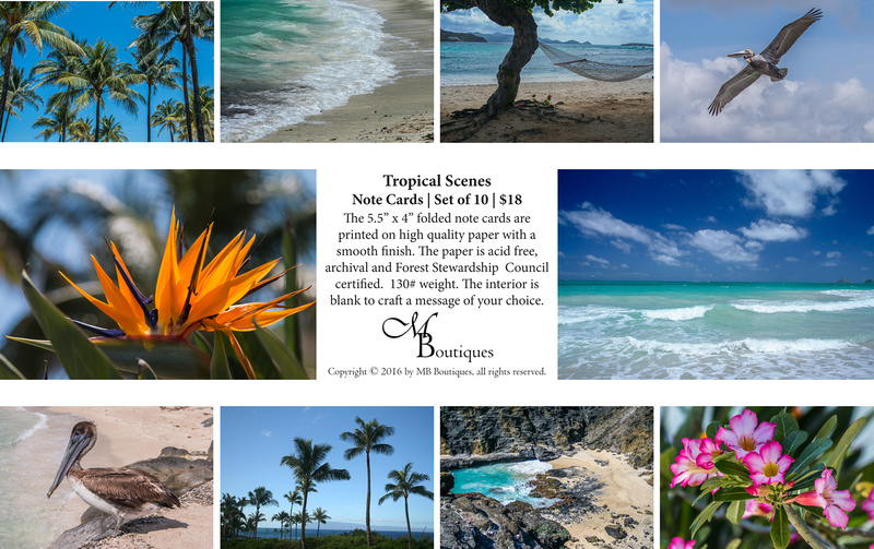 Tropical Scenes Note Cards | Set of 10 | $18